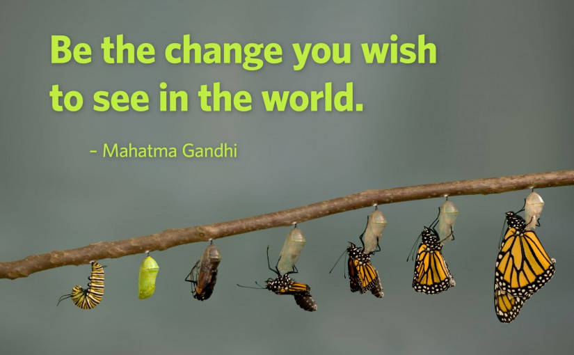 Be The Change In Your World