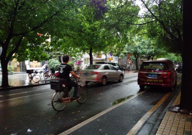 Cycling post rain