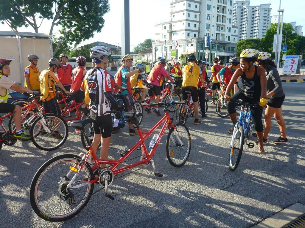 St Nicholas Penang Blind Cyclist