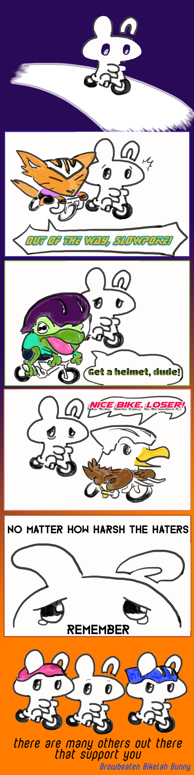 Bikelah Bunny Cycling Webcomic