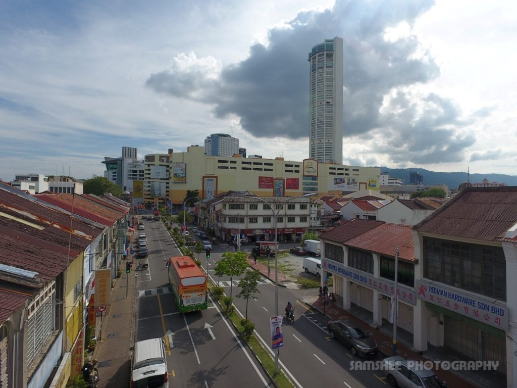 Aerial Penang Komtar Drone Photo