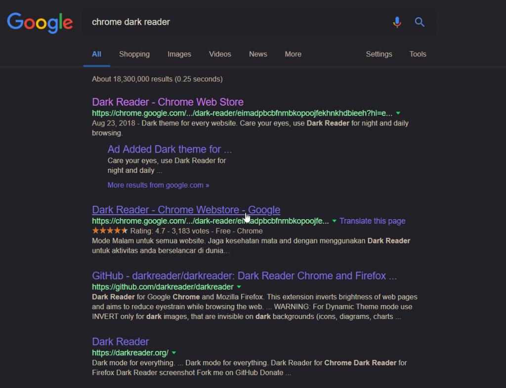 Chrome Dark Reader Night Mode Best